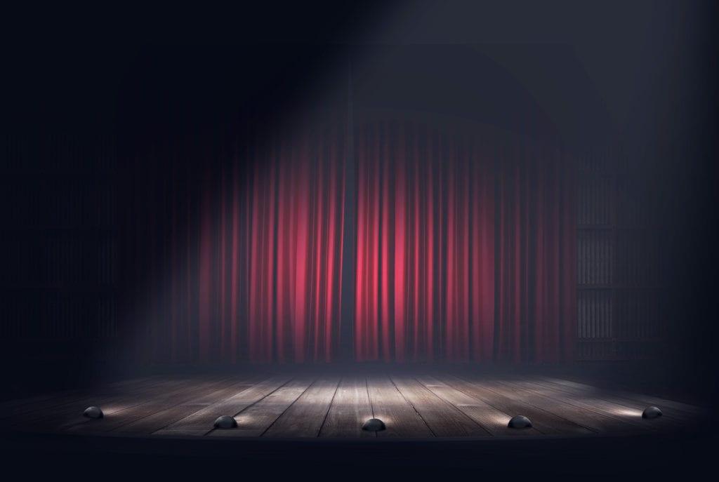 author platform, stage