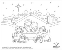 M coloring page A4