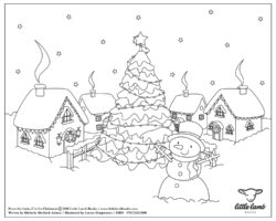Snow coloring page A4